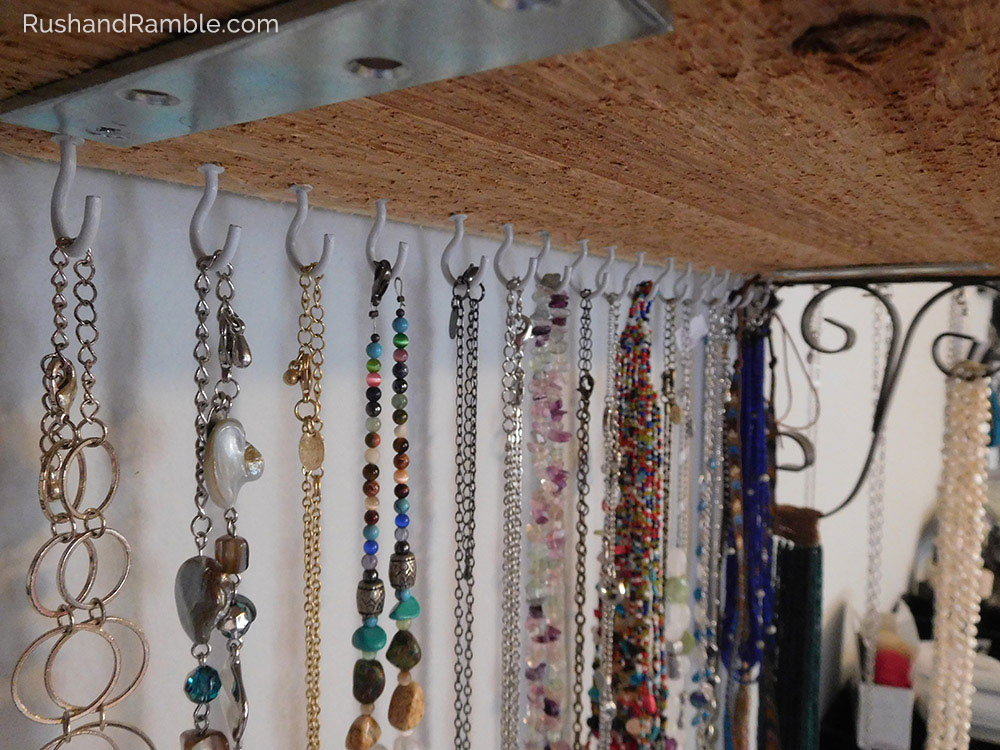 Jewelry Clutter - Organizing Necklaces