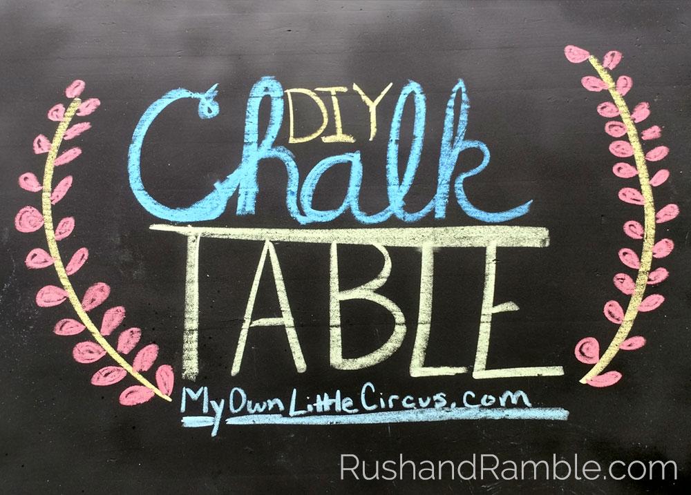 DIY Chalkboard Table - Rush & Ramble