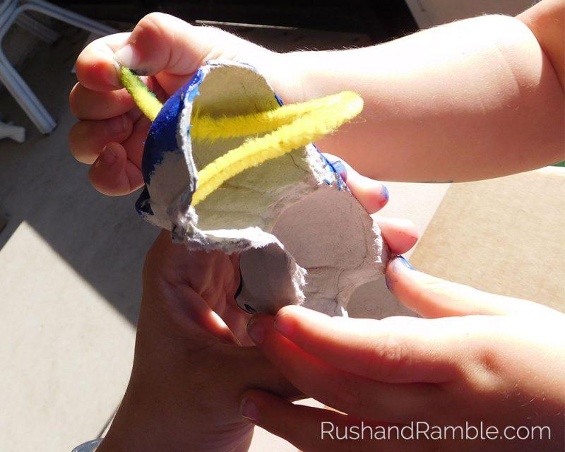 Easter Crafts - Egg Carton Caterpillars  Rush & Ramble