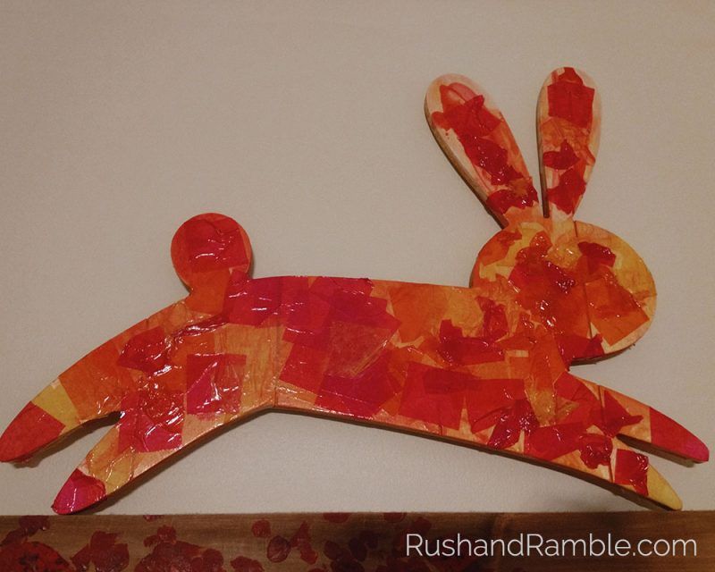 Easter Crafts - Tissue Paper Rabbit   Rush & Ramble