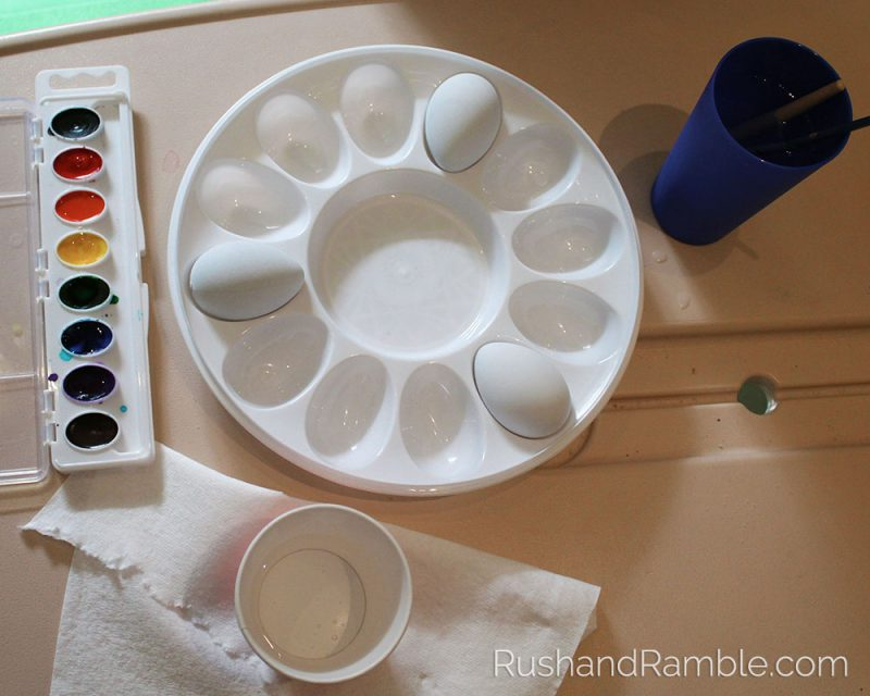 Easter Crafts - Watercolor Eggs   Rush & Ramble