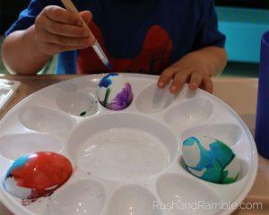 Easter Crafts - Watercolor Eggs | Rush & Ramble