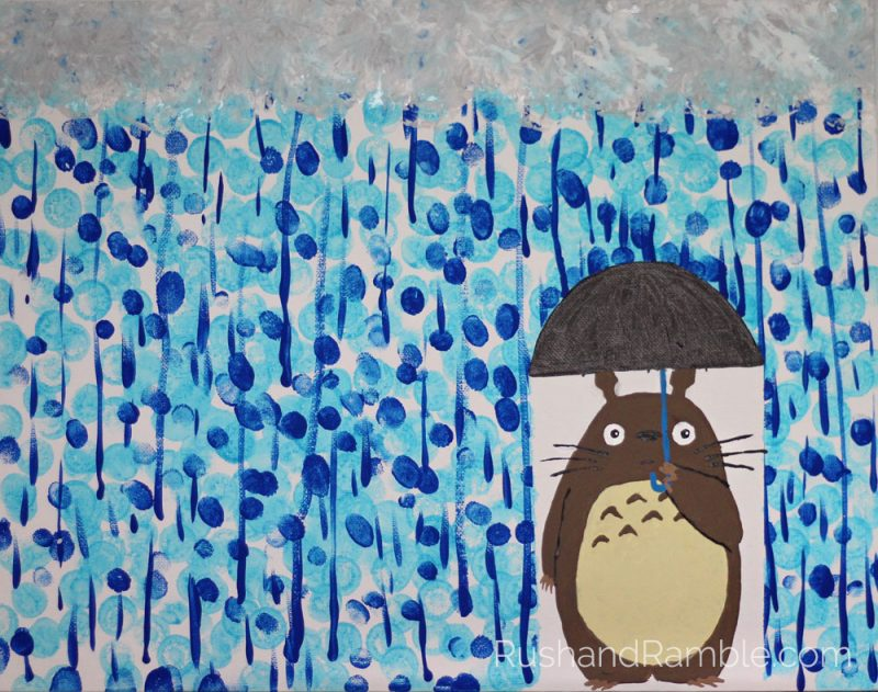 Sick Day Survival Crafts: Painting   Daubers, Fingers, Brushes and Totoro