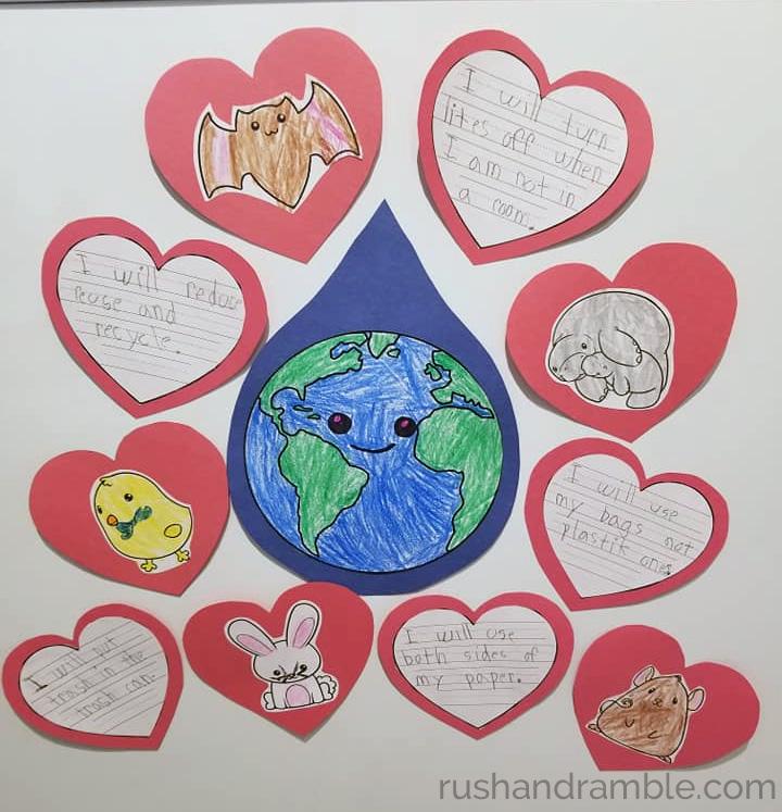 Earth Day Promises Activity - RushandRamble.com