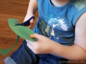 Construction Paper Camp Site Craft